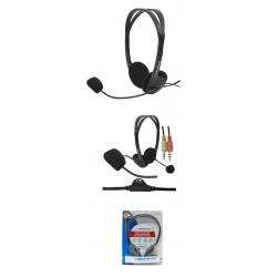 Słuchawki stereo z mikrofonem Esperanza EH102, reg. głośn.